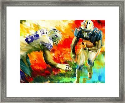 Football IIi Framed Print by Lourry Legarde