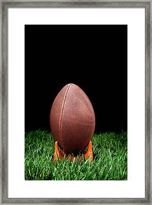 Football Kickoff Framed Print by Joe Belanger