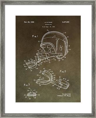 Football Mouthguard Patent Framed Print by Dan Sproul