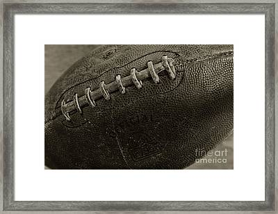 Football Old And Worn Framed Print by Paul Ward