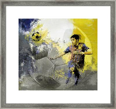 Football Player Framed Print by Catf