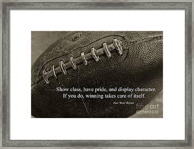 Football Show Class Framed Print by Paul Ward