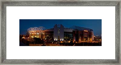 Football Stadium Lit Up At Night, Old Framed Print by Panoramic Images