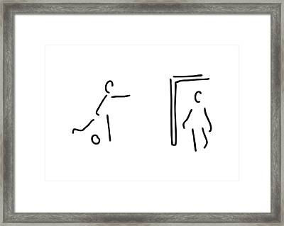 Footballer Soccer Player Framed Print by Lineamentum