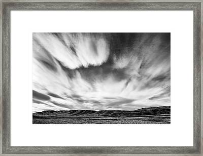 Foothills Cloud Drama Framed Print by Heather Simonds
