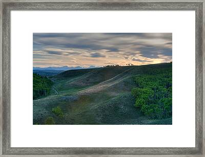 Foothills Evening Framed Print by Heather Simonds