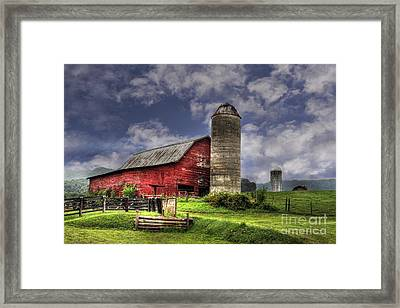 Foothills Farm Framed Print by Benanne Stiens