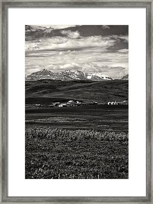 Foothills Farm Framed Print by Roderick Bley