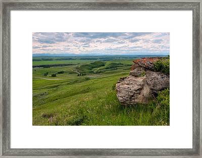 Foothills Summer Landscape Framed Print by Heather Simonds