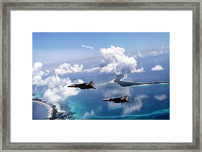 Footprint Of Freedom Framed Print by Peter Chilelli