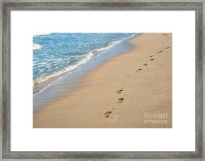 Footprints In The Sand Framed Print by Juli Scalzi