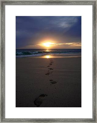 Footprints Framed Print by Kelly Jones