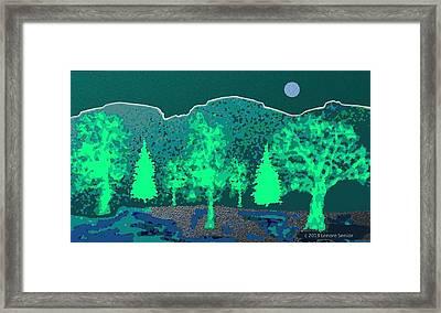 Footsteps Framed Print by Lenore Senior