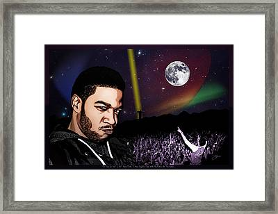 For Even In Hell - Kid Cudi Framed Print by Dancin Artworks