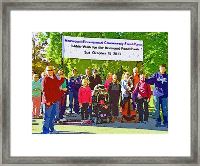 For Our Hungry Neighbors Framed Print by Jean Hall