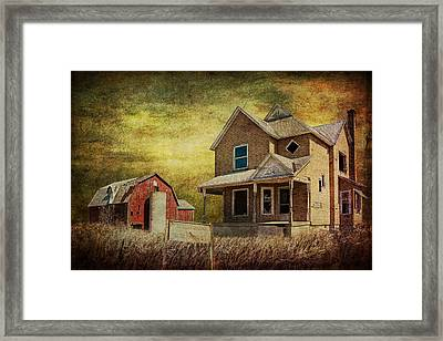 For Sale A Forlorn Michigan Farm Framed Print by Randall Nyhof