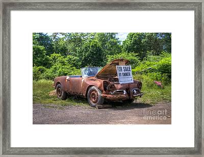 For Sale By Owner Framed Print by Rick Kuperberg Sr