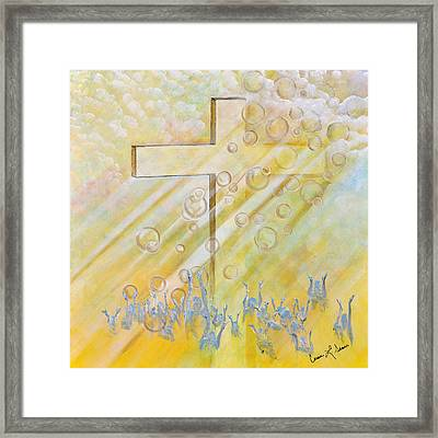 For The Cross Framed Print by Cassie Sears