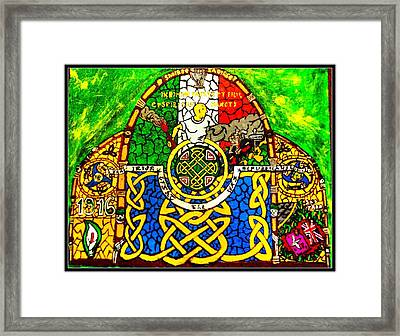 For The Families Of Irish Pows Framed Print by Brett Genda
