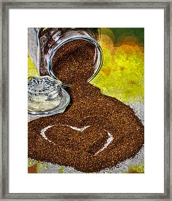 For The Love Of Coffee Framed Print by Bob Orsillo