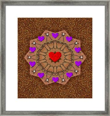 For The Love Of Hearts Framed Print by Pepita Selles