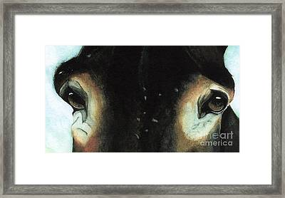For The Love Of Pete Framed Print by Janine Riley