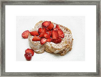 For The Love Of Strawberries Framed Print by Andee Design