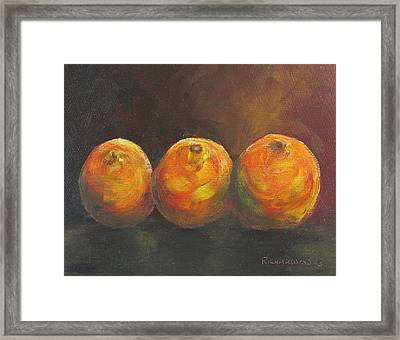 For The Love Of Three Oranges Framed Print by Susan Richardson