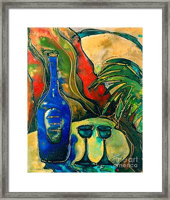 For Two- Wine Framed Print by Twyla Gettert