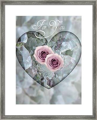 For You Framed Print by Shirley Sirois