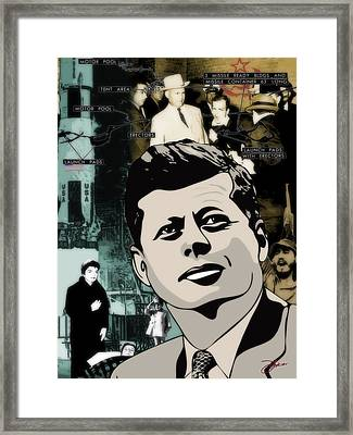 For Your Country John F. Kennedy Framed Print by Dancin Artworks