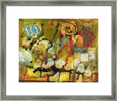 For Your Eyes Only Abstract Art Framed Print by Blenda Studio