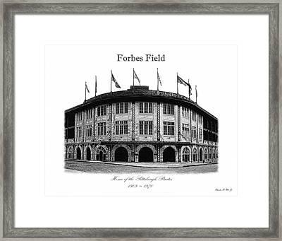 Forbes Field Framed Print by Charles Ott