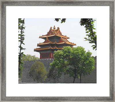 Forbidden City Building 3 Framed Print by Kay Gilley
