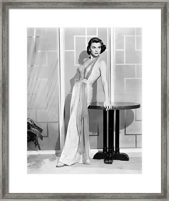 Forbidden, Joanne Dru, 1953 Framed Print by Everett