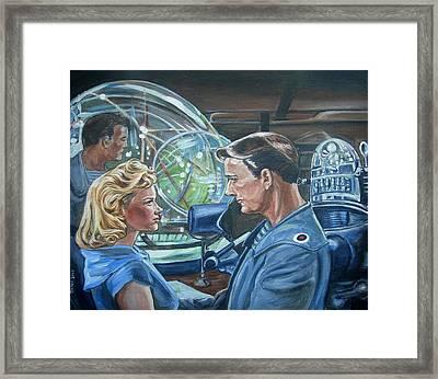 Forbidden Planet Framed Print by Bryan Bustard