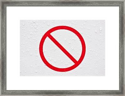 Forbidden Sign Framed Print by Tom Gowanlock