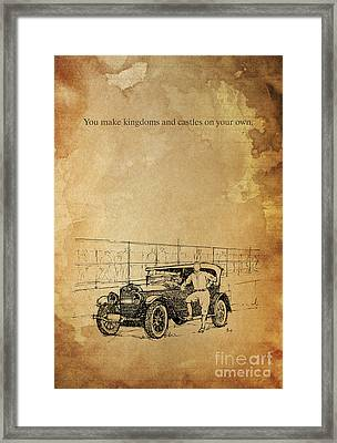 Ford And The Baseball Star Framed Print by Pablo Franchi
