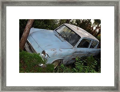 Ford Anglia Framed Print by Rebecca Parker