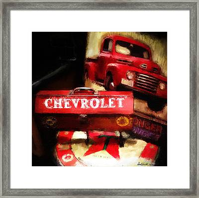 Ford Chevrolet Framed Print by Robert Smith