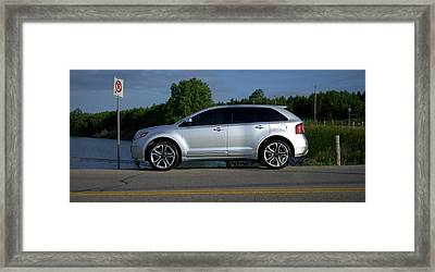 Ford Edge Sport Framed Print by Rob Andrus