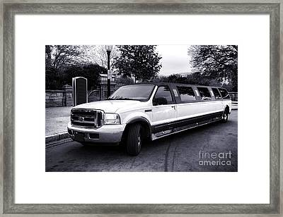 Ford Excursion Stretched Limo Framed Print by Olivier Le Queinec