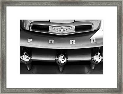 Ford F-1 Pickup Truck Grille Emblem Framed Print by Jill Reger