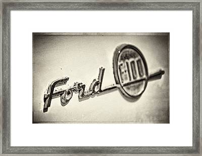 Ford F-100 Framed Print by Caitlyn  Grasso