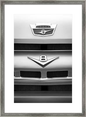 Ford Grille V8 Emblem Custom Cab Framed Print by Jill Reger