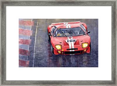 Ford Gt 40 24 Le Mans  Framed Print by Yuriy  Shevchuk
