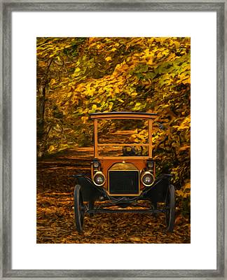 Ford Framed Print by Jack Zulli