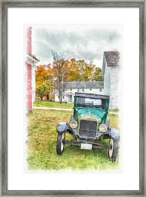 Ford Model A Sedan Framed Print by Edward Fielding