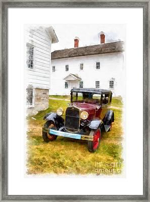 Ford Model A Watercolor Framed Print by Edward Fielding