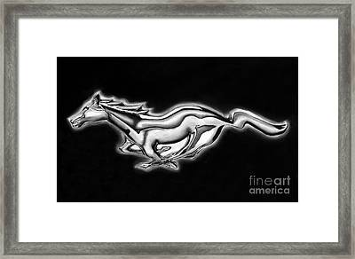 Ford Mustang Emblem Framed Print by Peter Piatt